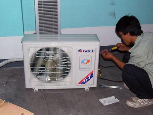 海信变频空调KFR-3201GW噪音维修